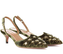 Slingback-Pumps Cosmic Star 45 aus Samt