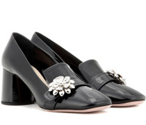 Loafer-Pumps aus Lackleder