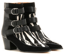 Ankle Boots Dickey aus Leder und Fell