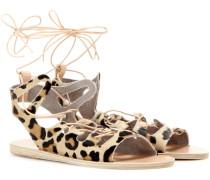 Sandalen Antigone aus Fell