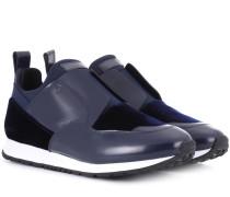 Sneakers Sportivo aus Kunstleder und Samt
