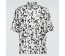Bedrucktes Kurzarmhemd aus Seide