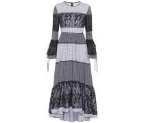 Langes Kleid Adrianne mit Volants
