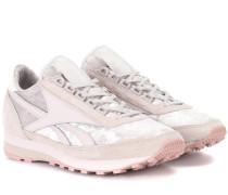 Sneakers aus Samt, Veloursleder und Leder