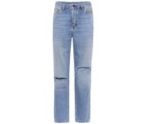 High-Rise Jeans aus Baumwolle