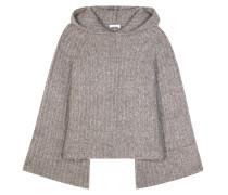 Kapuzenpullover aus Mohair und Wolle