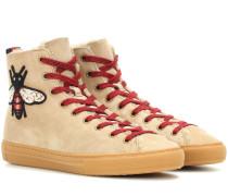 High-Top-Sneakers aus Veloursleder