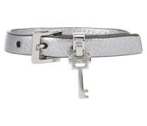 Verziertes Armband aus Metallic-Leder