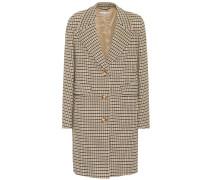 Karierter Mantel aus Stretch-Wolle