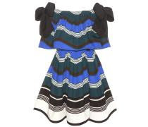 Gestreiftes Off-Shoulder-Kleid aus Baumwolle