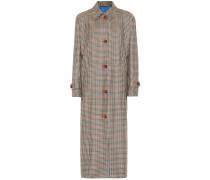 Karierter Mantel Maria aus Wolle