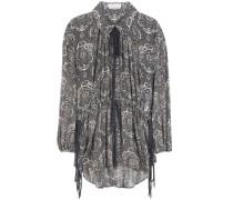 Bluse aus bedrucktem Seidengeorgette