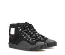 High-Top-Sneakers Young aus Veloursleder