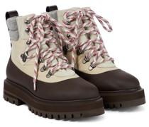 Ankle Boots Toula aus Leder und Canvas