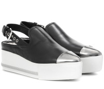 Loafers mit offener Ferse