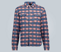 Karierte Hemdjacke aus Baumwolle