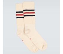 Gestreifte Socken aus Baumwolle