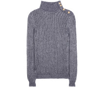 Metallic-Pullover aus einem Mohair-Gemisch