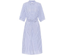 Gestreiftes Kleid Penelope aus Baumwolle