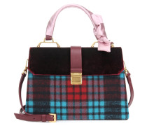 Handtasche mit Samt und Leder