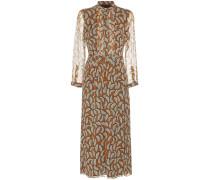 Bedrucktes Kleid Carla aus Seide
