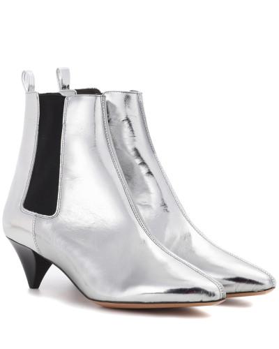 Ankle Boots Dawell aus Metallic-Leder