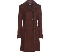 Mantel aus Veloursleder