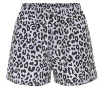 Shorts mit Leopardenprint
