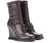 Stiefel aus Leder mit Keilabsatz