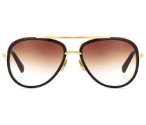 Aviator-Sonnenbrille Mach Two aus Azetat mit 18kt Vergoldung
