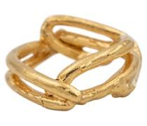 Vergoldeter Ring The Beginning of the Plait