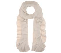 Schal aus Schurwolle und Cashmere mit Rüschen