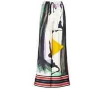 Bedruckte Hose Callata aus Seide