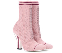 Ankle Boots aus Stretch-Strick