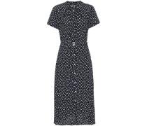 Hemdblusenkleid mit Polka-Dots