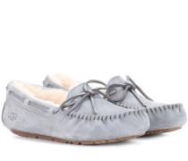 Loafers Dakota aus Veloursleder mit Fell