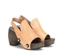 Clog-Sandalen aus Leder