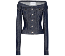 Off-Shoulder-Jeansjacke
