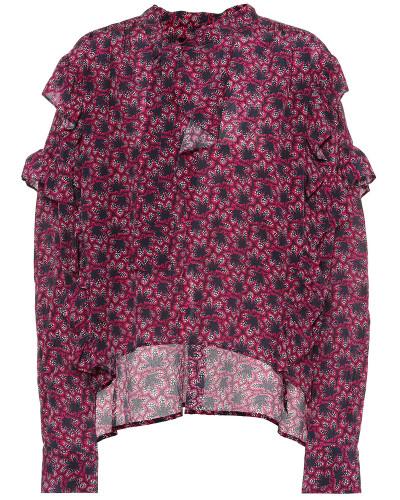 Bedruckte Bluse Libel aus Seide