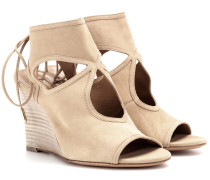 Wedges Sexy Thing 85 aus Veloursleder