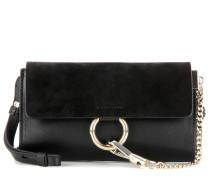 Tasche Faye Mini aus Glatt- und Veloursleder