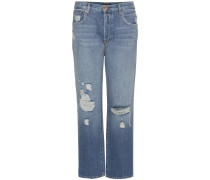 Boyfriend-Jeans Ivy in Distressed-Optik