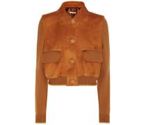 Jacke aus Veloursleder und Wolle