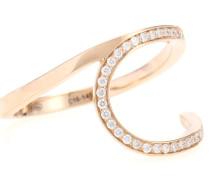 Ring La Ligne C Hoop aus 18kt Roségold mit Diamanten