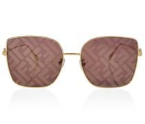 Sonnenbrille Baguette aus Metall