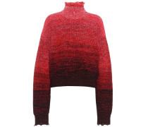 Distressed Pullover aus Wolle und Baumwolle