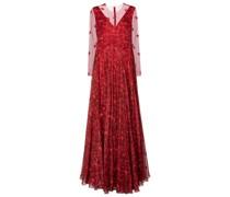 Robe Le Rouge aus Seidenchiffon