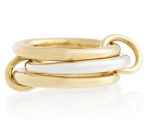 Ring Taurus aus 18kt Gelbgold und Sterlingsilber