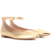 Ballerinas Gia aus Metallicleder