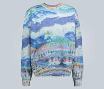 Oversize-Pullover mit Batik-Print